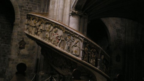 Escalera de subida al coro
