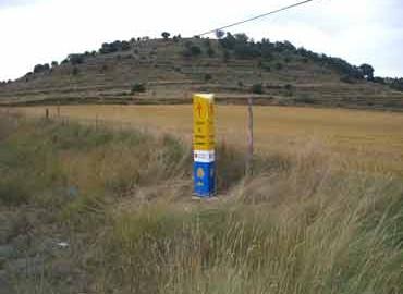Mojón nº 37 (Km 118,1) Carretera de Ares