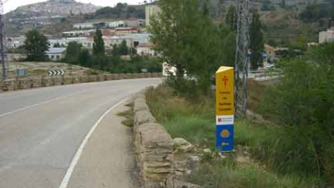 Mojón nº 39 (Km 121,4) Llegando al Hostal Nou de Morella