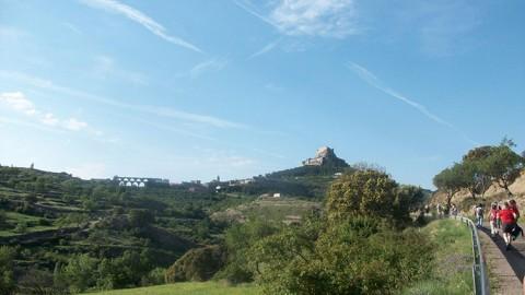 Panorámica de Morella desde la carretera de Xiva