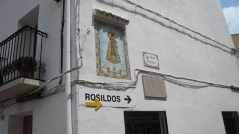 Flecha de salida hacia Los Rosildos