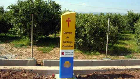 Primer Mojón amarillo del Caminàs, Castellón